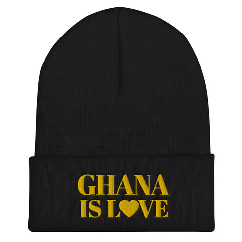 """Ghana Is Love"" Cuffed Beanie"