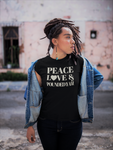 Peace, Love & Pounded Yam Unisex T-Shirt
