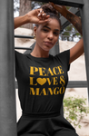Peace, Love & Mango Short-Sleeve Unisex T-Shirt