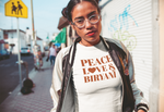 """Peace, Love & Biryani"" Short-Sleeve Unisex T-Shirt"