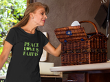 """Peace, Love & Fajitas"" Short-Sleeve Unisex T-Shirt"