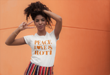 Peace, Love & Roti Short-Sleeve Unisex T-Shirt