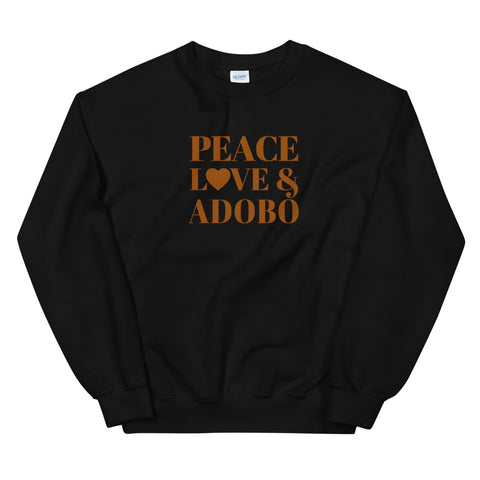"""Peace, Love & Adobo"" Unisex Sweatshirt"