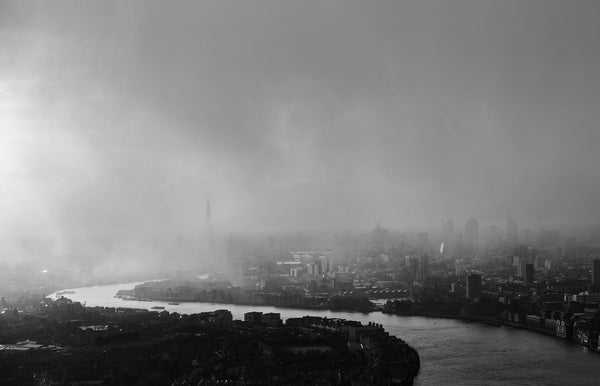London in a Winter Storm