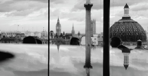 View of London from the National Portrait Gallery BW