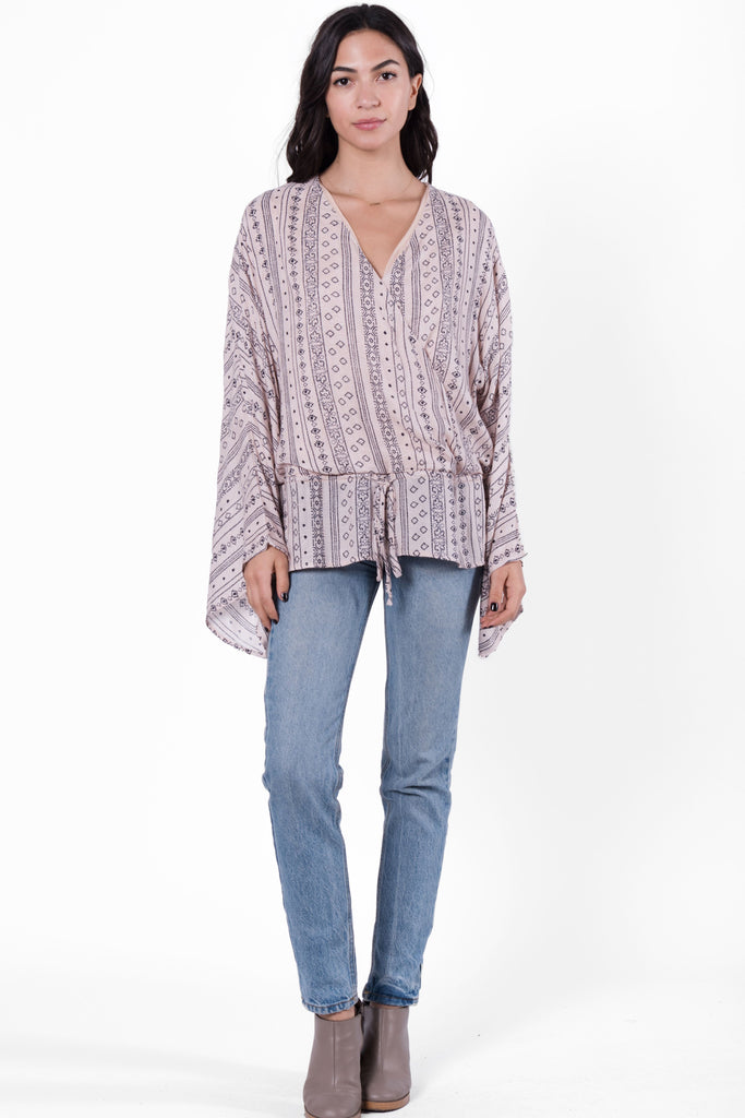 Temara Wrap Blouse
