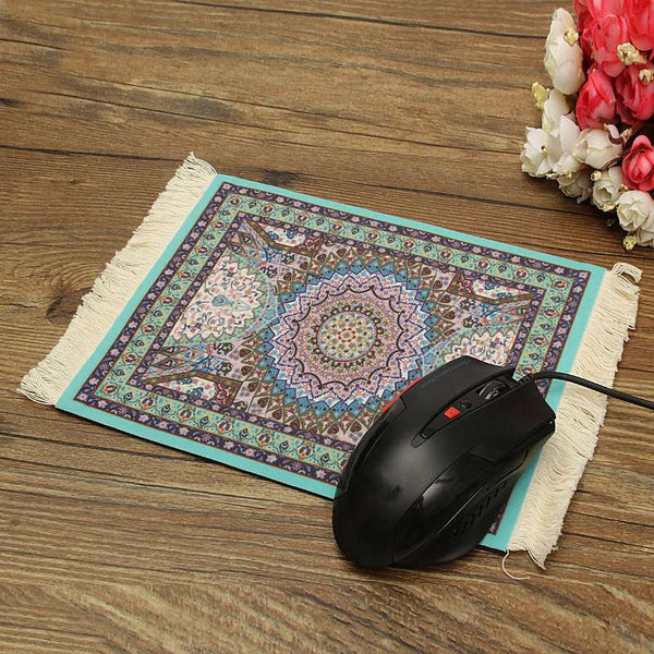 180 x 280mm Locking Edge Gaming Mouse Pad Tassel Mousepad Rubber Mouse Mat Square Keyboard Mat Table Mat Gamer Office Gift