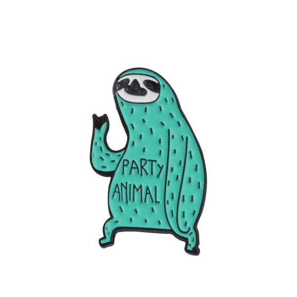 Party Animal Sloth Pin