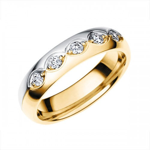 Vigselring Schalins Sofia Allians 18k Röd/vitguld WVS diamanter 0,25 ct