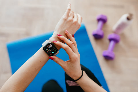 Using smartwatch during exercise