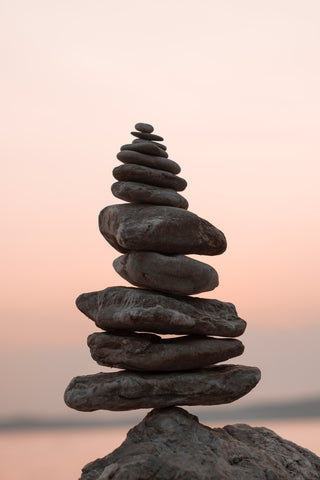 Stones balanced together