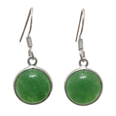 Sterling Silver Canadian Jade Earrings