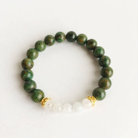Patience with Yourself ~ African Jade & Moonstone