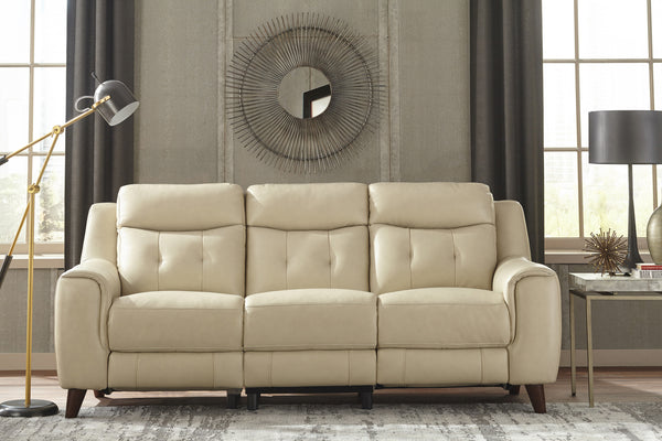Campania Top Grain Leather Power Reclining Collection with Power Headrests