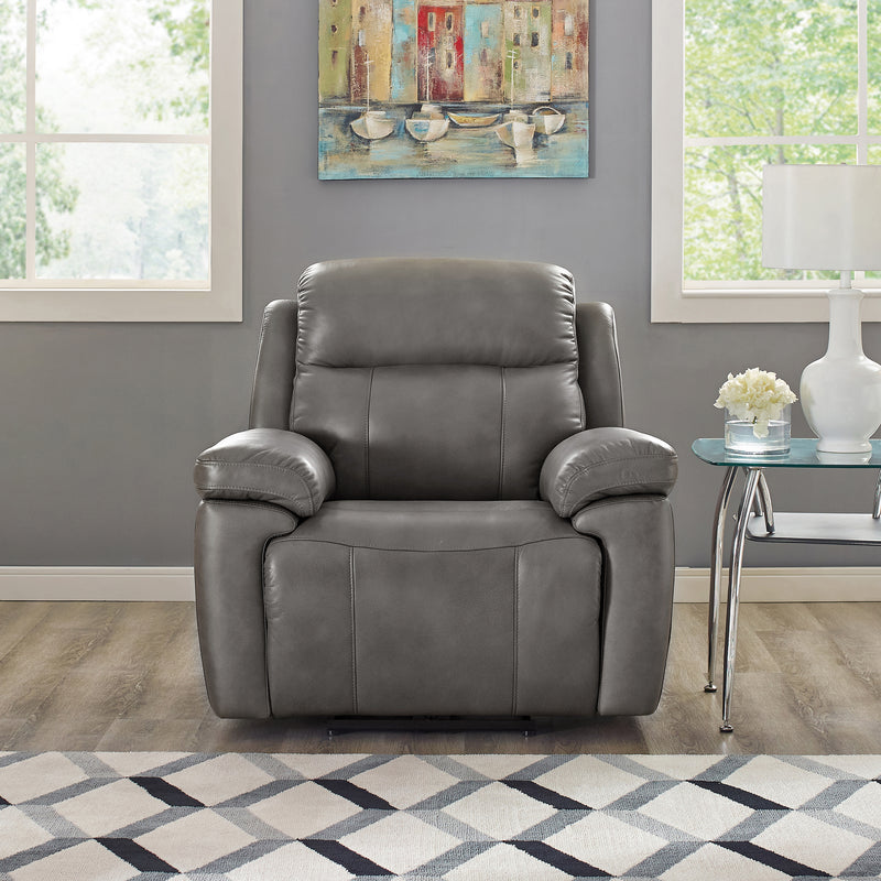 Atticus Leather Collection with Power Recline, Headrest and Lumbar