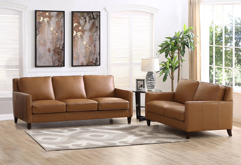 Tremendous West Park Top Grain Leather Sofa Set Prospera Home Gmtry Best Dining Table And Chair Ideas Images Gmtryco