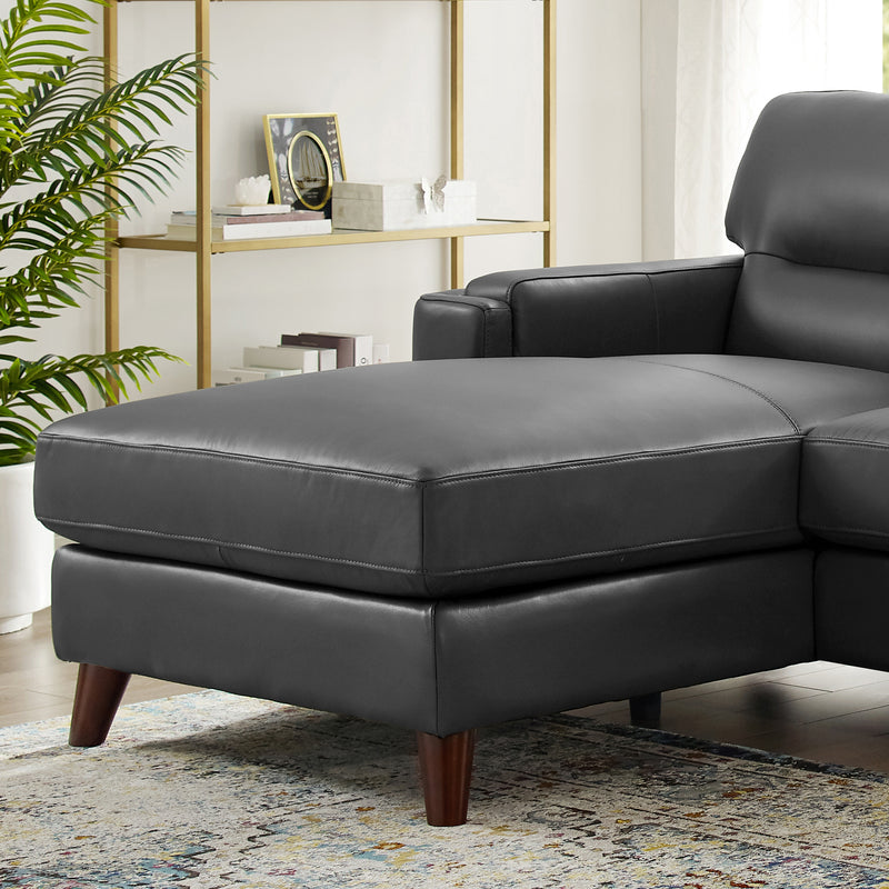 Sorena Top Grain Leather Sectional