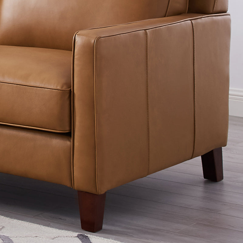 West Park Top Grain Leather Sectional