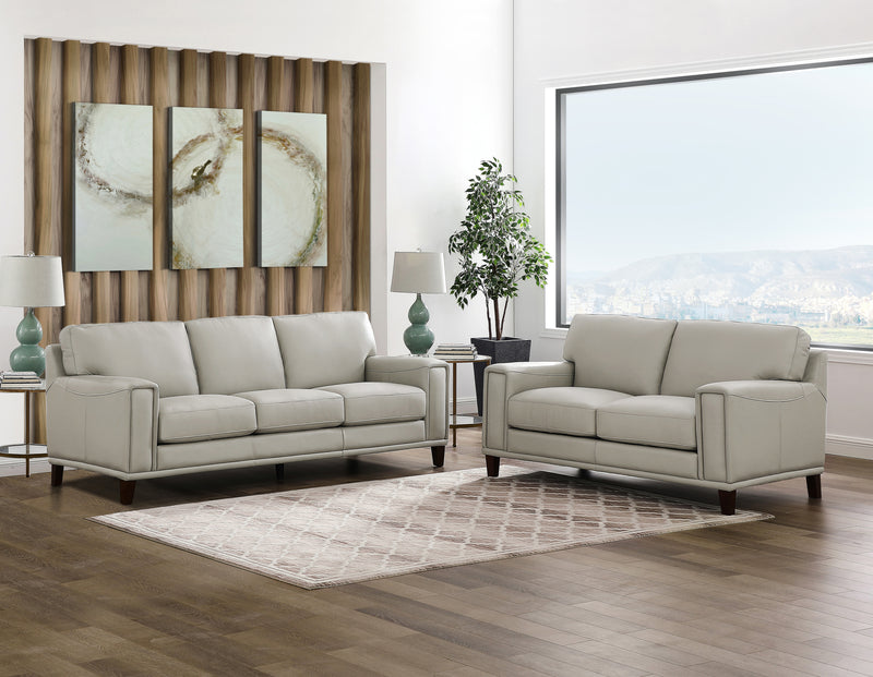 Jensen Top Grain Leather Sofa Set