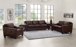 Wynwood Top Grain Leather Sofa Set
