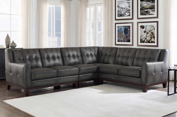 Simone Top Grain Leather Sectional