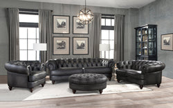 Glenbrook Top Grain Leather Sofa Set