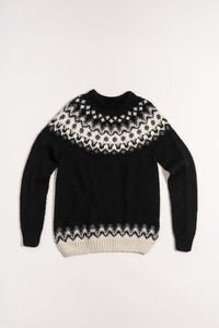 Hrefna Wool Sweater — Black