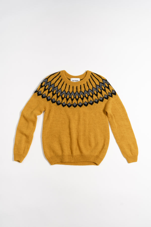 Load image into Gallery viewer, Urður Wool Sweater — Yellow