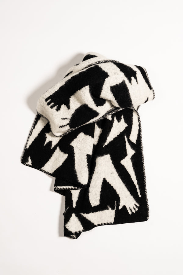 Load image into Gallery viewer, Form Large Scarf — Black & White
