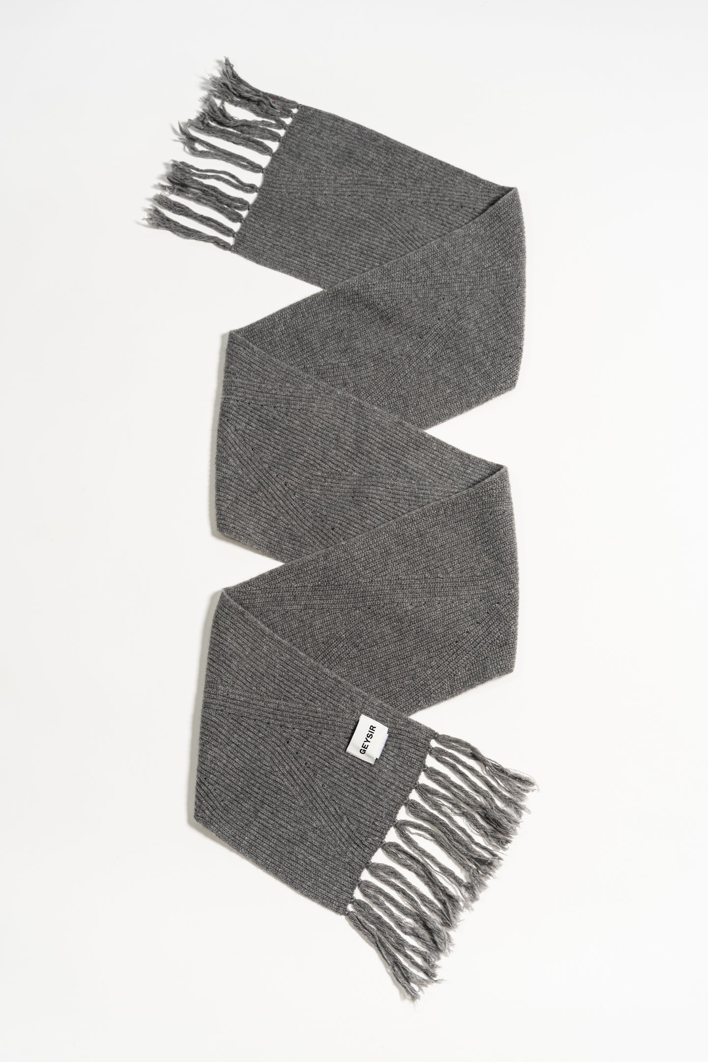 Brák Knitted Scarf — Grey