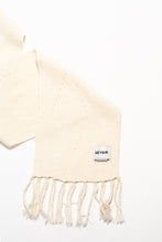 Load image into Gallery viewer, Brák Knitted Scarf — White