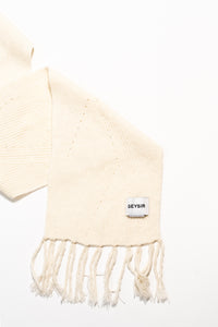 Brák Knitted Scarf — White
