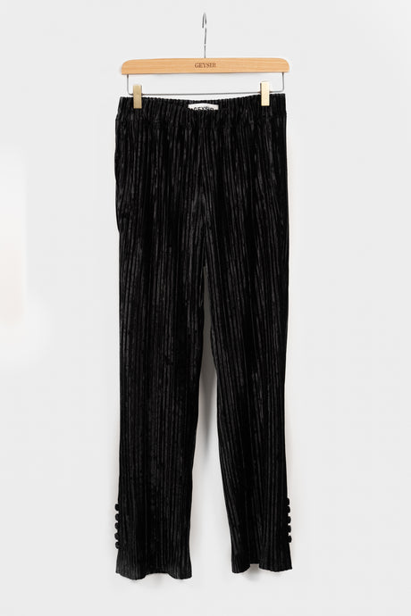 Bríet Trousers — Black Velvet