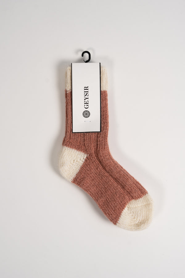 Load image into Gallery viewer, Two Color Kids Socks  —  Pink