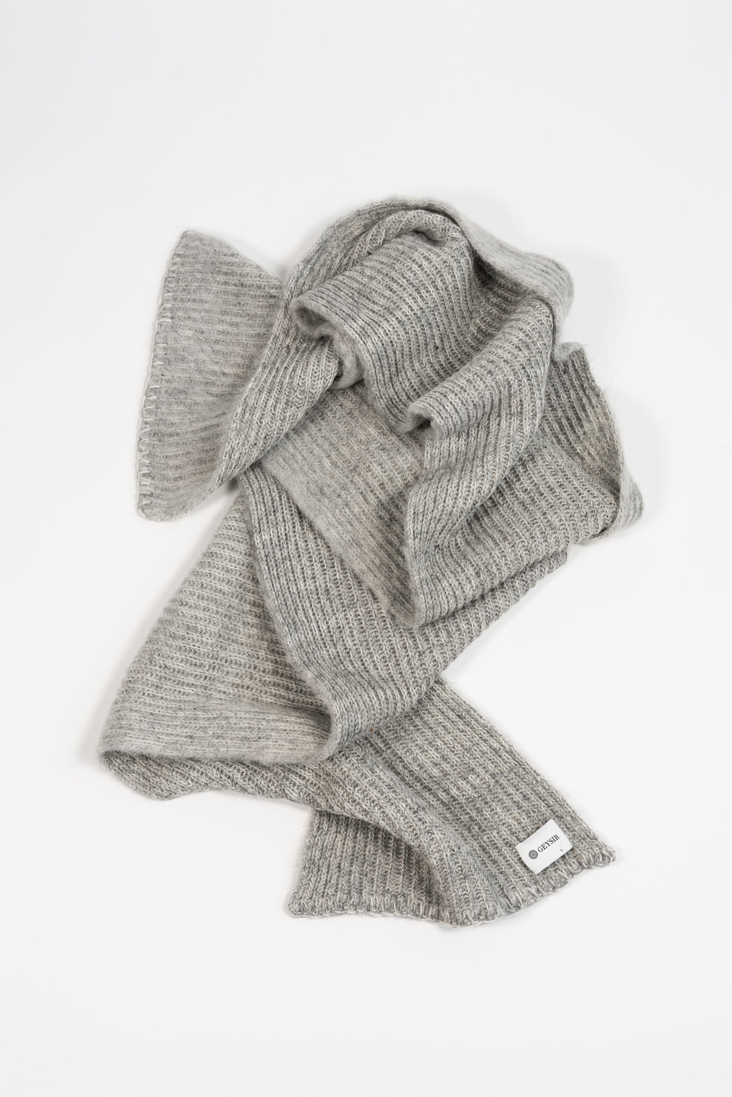 Funi Wool Scarf — Light Grey