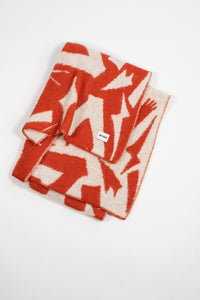 Form Large Scarf — Coral & White