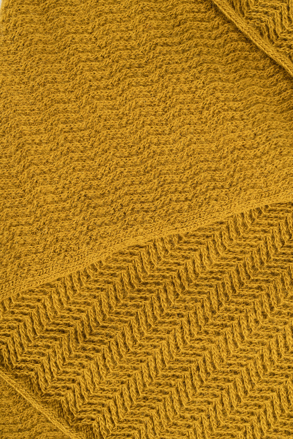Load image into Gallery viewer, Fold Scarf —  Mustard Yellow