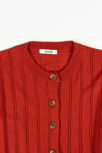 Load image into Gallery viewer, Eir Merino Cardigan — Orange