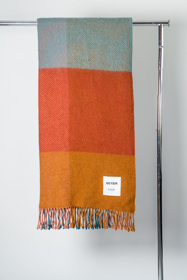 Load image into Gallery viewer, Mosi Multicolor — Icelandic Wool Blanket