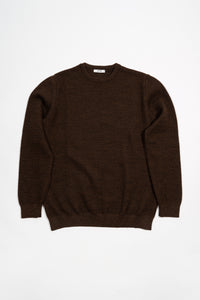 Ernir Merino Sweater — Dark Brown