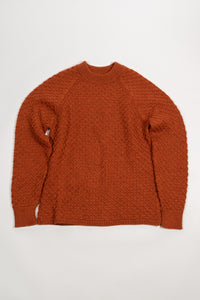 Ýmir Wool Sweater — Burnt Orange