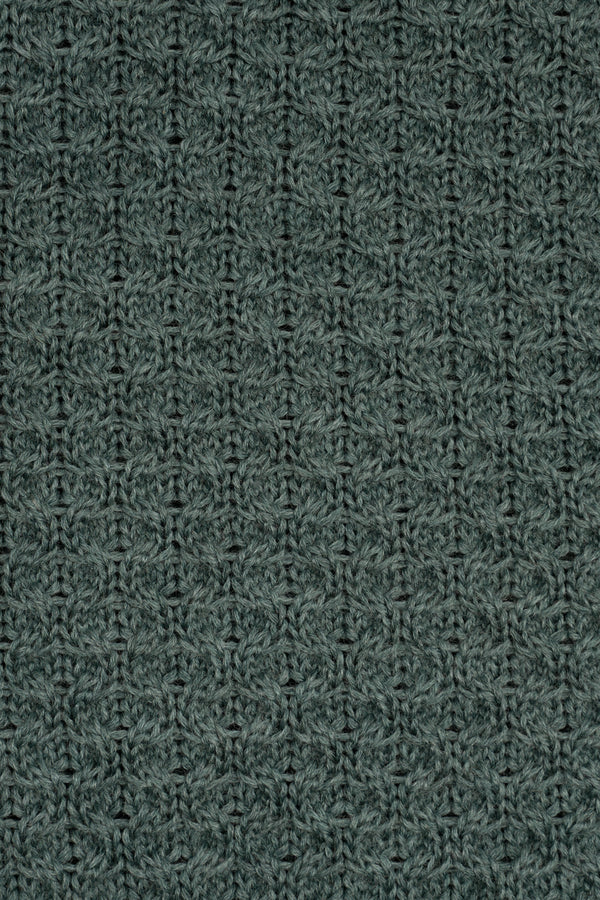 Load image into Gallery viewer, Ýmir Wool Sweater — Green Melange