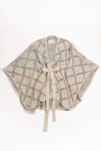 Tígla Wool Cape — Light Grey