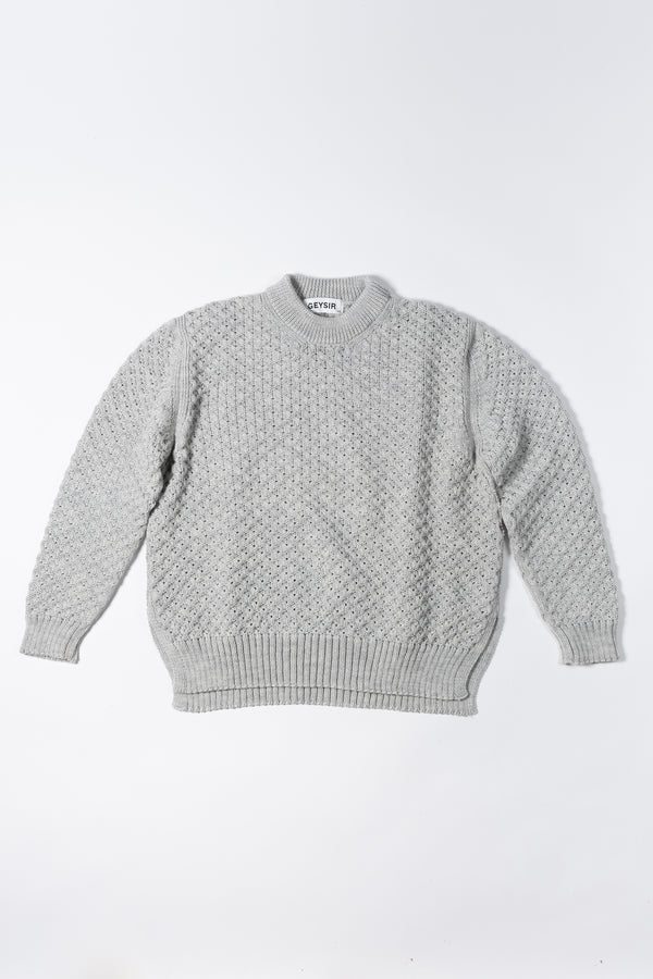 Load image into Gallery viewer, Yrsa Wool Sweater — Grey Melange