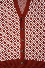 Load image into Gallery viewer, Ási Cardigan —  Rust Red