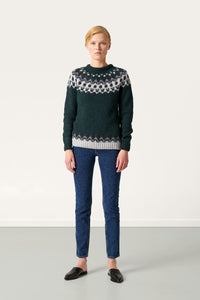 Hrefna Wool Sweater — Dark Green