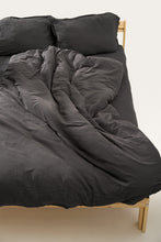 Load image into Gallery viewer, Nótt Fitted Sheet - Dark Stone