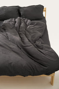 Nótt Fitted Sheet — Dark Stone