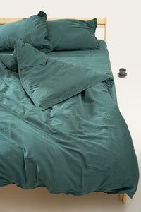 Nótt Fitted Sheet — Dark Teal