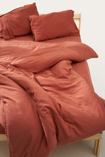 Load image into Gallery viewer, Nótt Duvet Cover — Terra Cotta